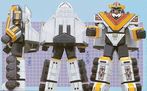 Comparison:Mega Winger (Megaranger) vs. Mega Winger (In Space)