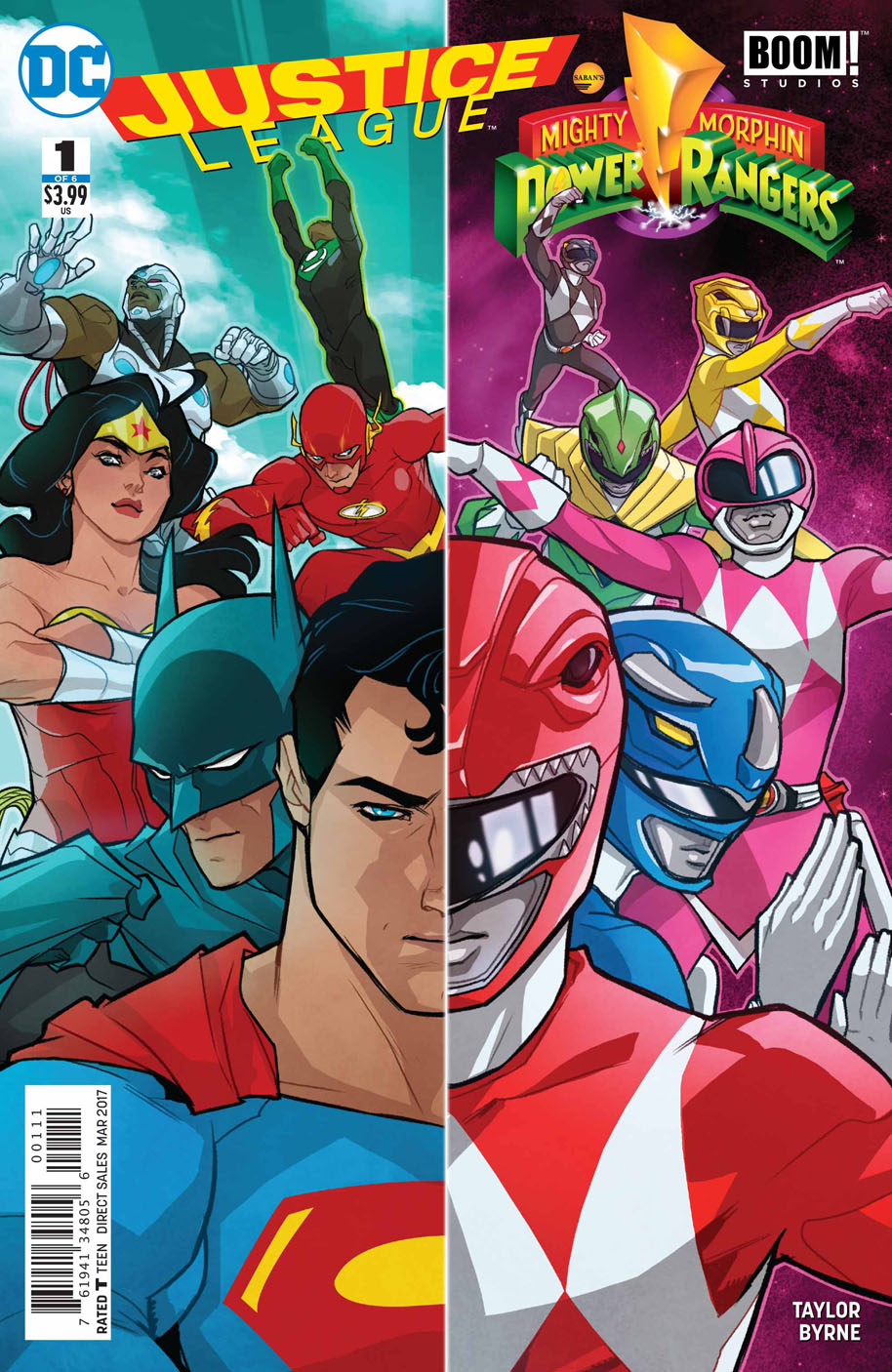 Justice League/Power Rangers Issue 1