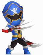 Blue Super Megaforce Rangers In Power Rangers Dash