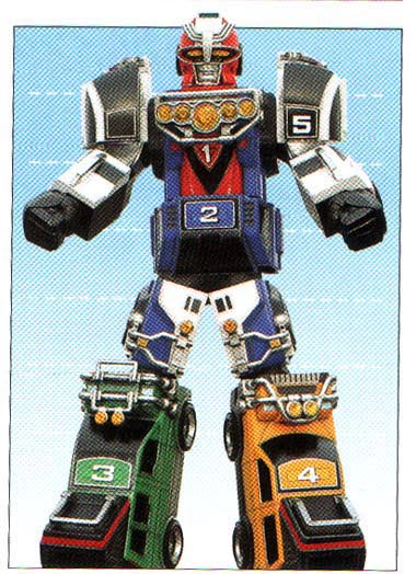 Comparison:Gekisou Gattai RV Robo vs. Turbo Megazord