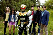 Megaforce Rangers with Robot Knight