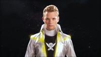 Silver Super Megaforce Ranger Morph 1