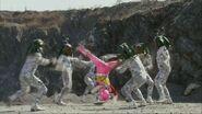 DC Pink Ranger kick
