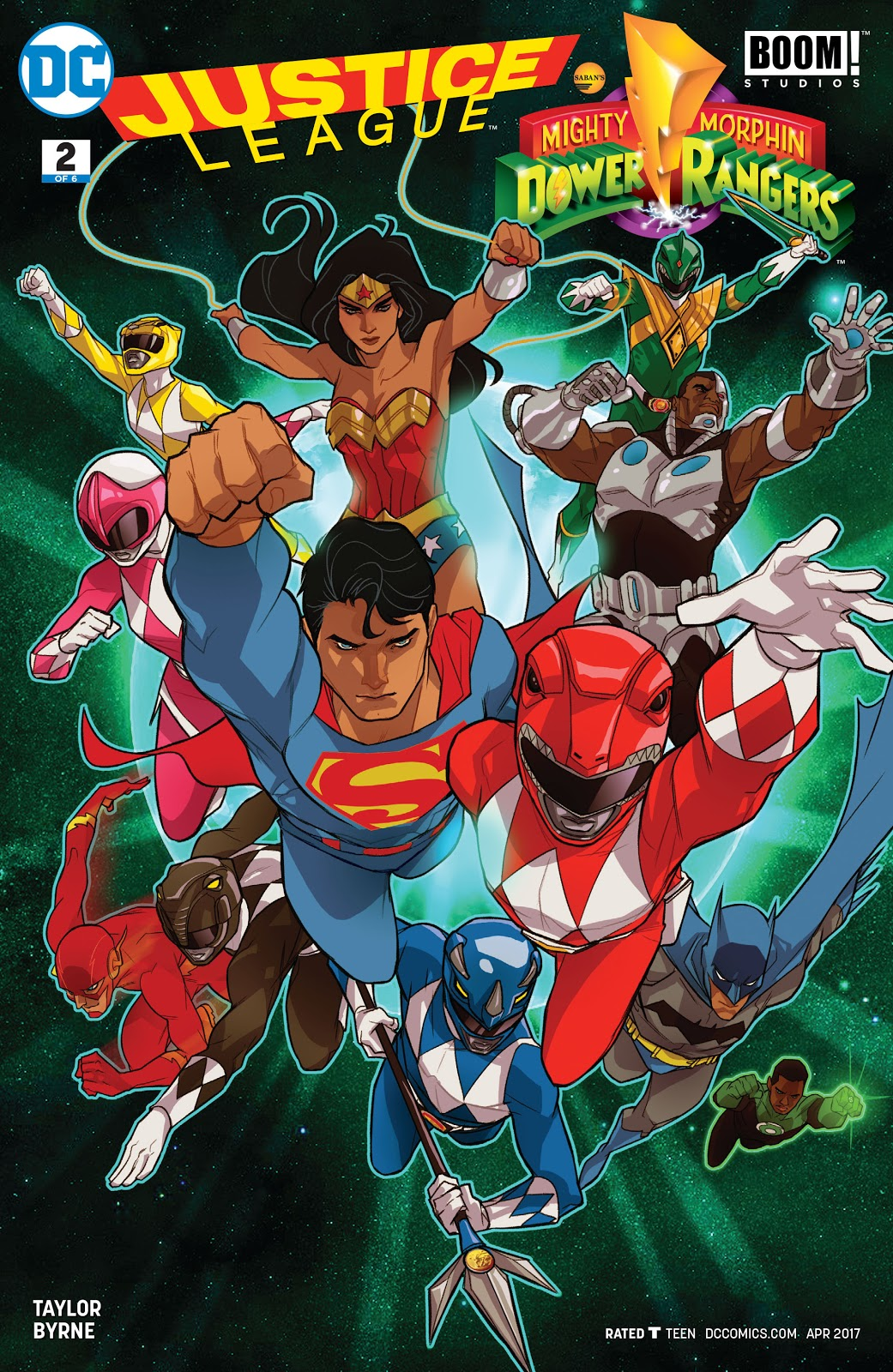 Justice League/Power Rangers Issue 2