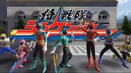 Samurai Sentai Shinkenger with KyoryuShinkenGreen in Super Sentai Legend Wars