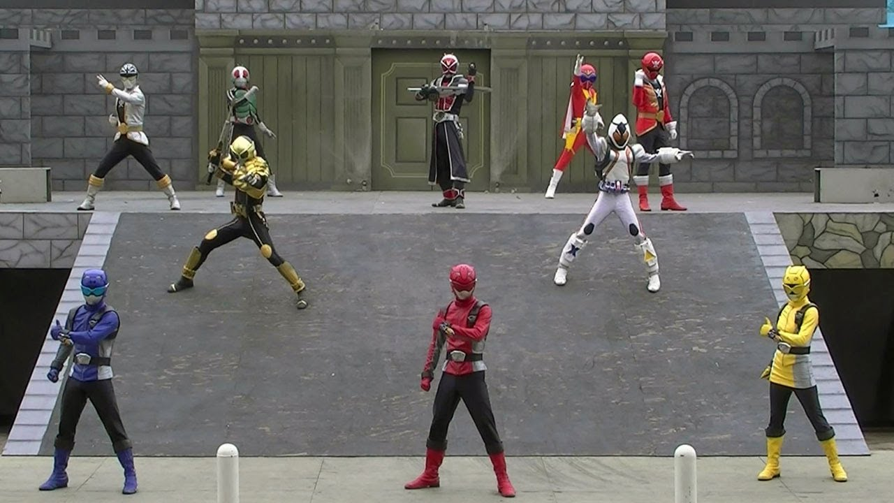 Go-Busters Stage Show at Super Hero New Hero Legend