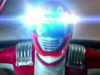 Red Overdrive Ranger Morph 1