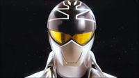 Silver Super Megaforce Ranger Morph 2