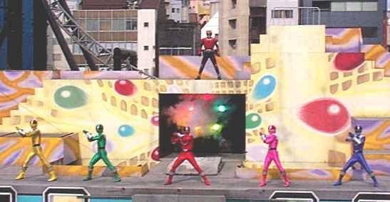 Timeranger Stage Show at Double Hero Korakuen Yuenchi