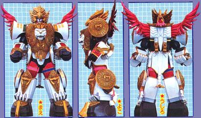 Comparison:Densetsu Gasshin MagiLegend vs. Manticore Megazord