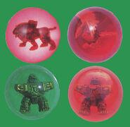 Prwf-ar- red animal crystals
