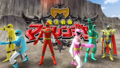 Mahou Sentai Magiranger with MagiGreen Muscle