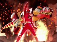 Red Dino Ranger Morph 2