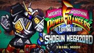 Mighty Morphin Power Rangers The Fighting Edition (SNES) - Trial Mode - Shogun Megazord Gameplay