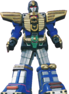 Zeo Megazord without any battle helmets