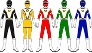 Power Rangers Turbo Charge (Core Five Team)
