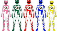 Shaolin Fury Rangers (First 5 Rangers)