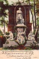 1900 , Pierwszy pomnik Adama Mickiewicza przed przebudową w 1903 r. 1
