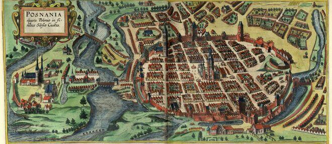Widok Poznania opublikowany w tomie VI (rok 1618)
