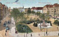 Wilhelmplatz - pocztówka - widok z góry