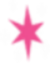 Růževá hvězda opstupovaná pěti malými bílými jiskerkámi