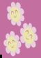 Tři květy s úsměvy na tvářích
