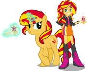 Sunset shimmer and sunset shimmer by hampshireukbrony-d6qbs1c.png
