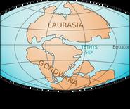 Triassic Earth 200mya