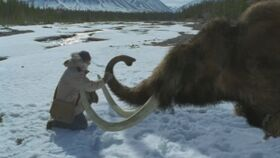 """A snapshot of the episode """"A Mammoth Undertaking""""."""