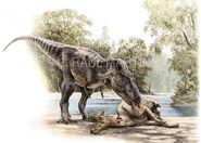 Albertosaurus Lambeosaurus