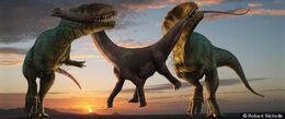 Carcharodontosaurus vs paralititan