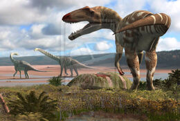 Carcharodontosaurus and some observers by oscarsanisidro-d6wmhal