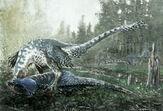 Dakotaraptor steini - pachycephalosaurus