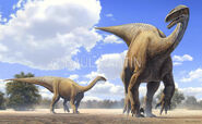 Grupo de plateosaurus