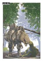 Acrocanthosaurus atokensis-eating