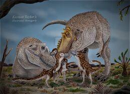 Tyrannosaurus rex family by illustratedmenagerie-dc5vwaw.jpg