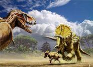 Tyrannosaurus vs triceratops big