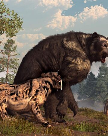 Short faced bear and saber toothed cat by deskridge-d53p70q.jpg