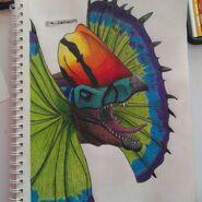 Erliphosaurus face by mr. democraft 240