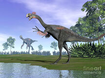 Two-gigantoraptor-dinosaurs-elena-duvernay