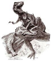 Трицератопс против тираннозавра