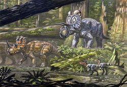1024px-Coronosaurus and Albertaceratops