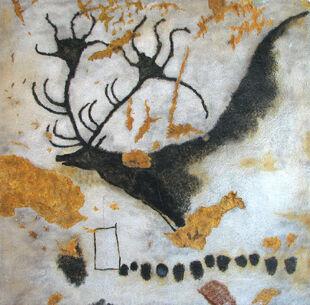 Большерогий олень в Ласко