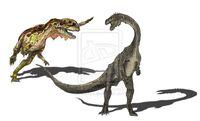 Sinosaurus vs yunnanosaurus by fafnirx-d5o6hte c69c
