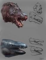 Critter sketches daedon x basilosaurus zeuglodon by raph04art-db9aw5v