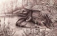 Мастодонзавр старое изображение