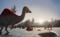 Speed paint deinocheirus morning bath by fredthedinosaurman-d8490c4.jpg
