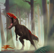 Alioramus by drakesaurian dath2ny-pre