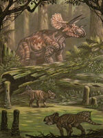 Ancient animals Dinosaurs Painting Art Triceratops 536358 1536x2048