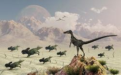 Protoceratops stampede by maspix-d5i5ykj